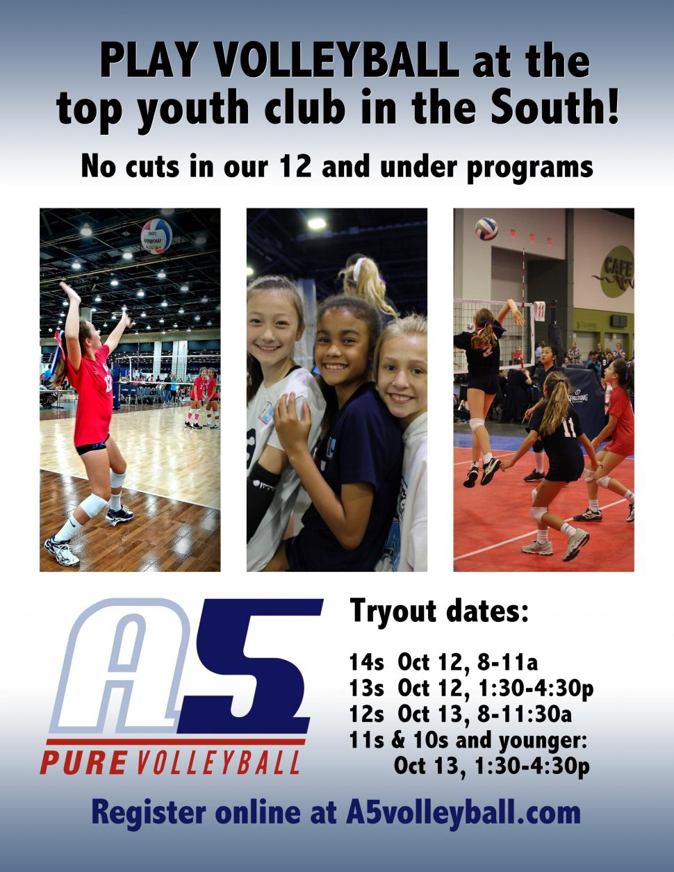 Play A5 Volleyball Youth Tryouts Kids Out And About Atlanta
