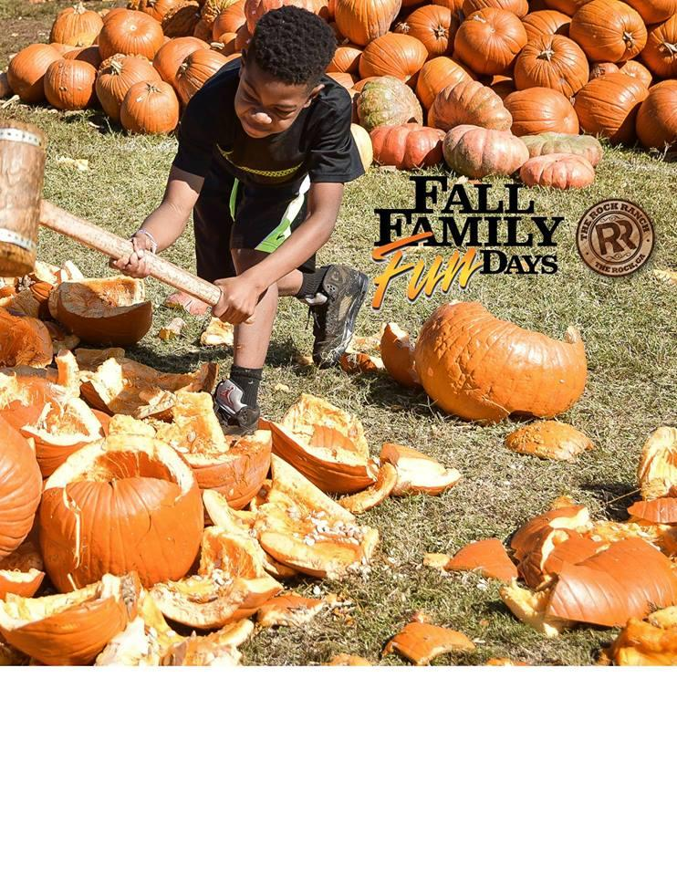 National Pumpkin Destruction Day At The Rock Ranch Kids Out And About Atlanta